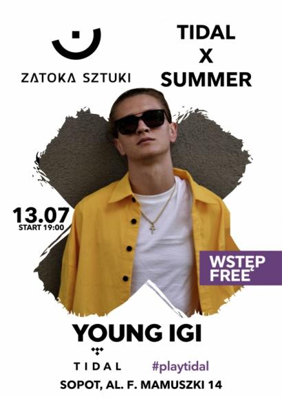 Koncert Young Igi na plaży w Sopocie