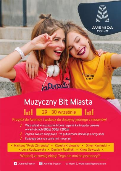 Poczuj Muzyczny Bit Miasta i dołącz do drużyny muserów w Avenidzie Poznań