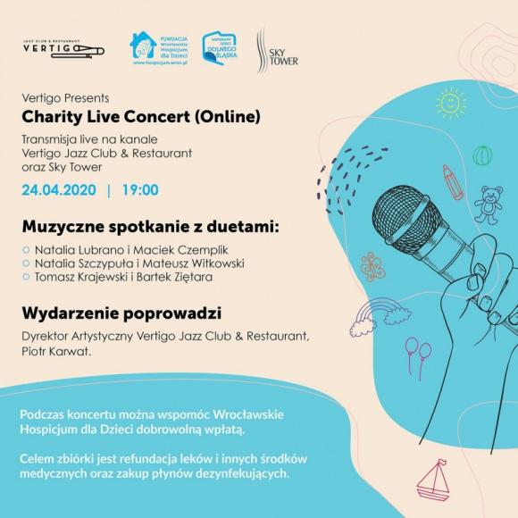 #zostańwdomu ze Sky Tower i weź udział w Vertigo Presents: Charity Live Concert
